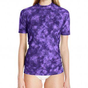 Kanu Surf  Rash guard Purple Tie Dye Plus Size